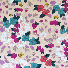 Flower Garden Surprise Jersey Knit Blush SY - Sold Out - Style Maker Fabrics