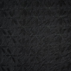 Vintage Daisies Embroidered Lawn Black - Fabric - Style Maker Fabrics