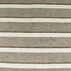 Italian Linen Stripe Shirting Taupe/Cream - Fabric - Style Maker Fabrics