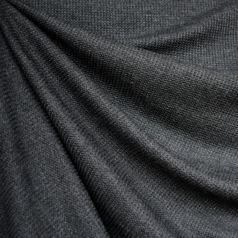 Modal Thermal Knit Solid Charcoal