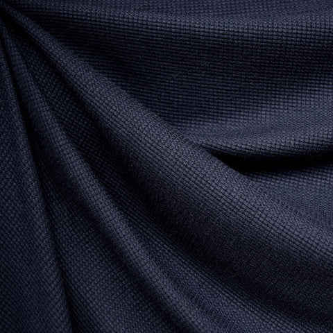Modal Thermal Knit Solid Navy