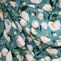 Everlasting Blooms Rayon Sage/Blush SY - Sold Out - Style Maker Fabrics