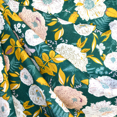 Gathered Peony Garland Rayon Forest - Sold Out - Style Maker Fabrics