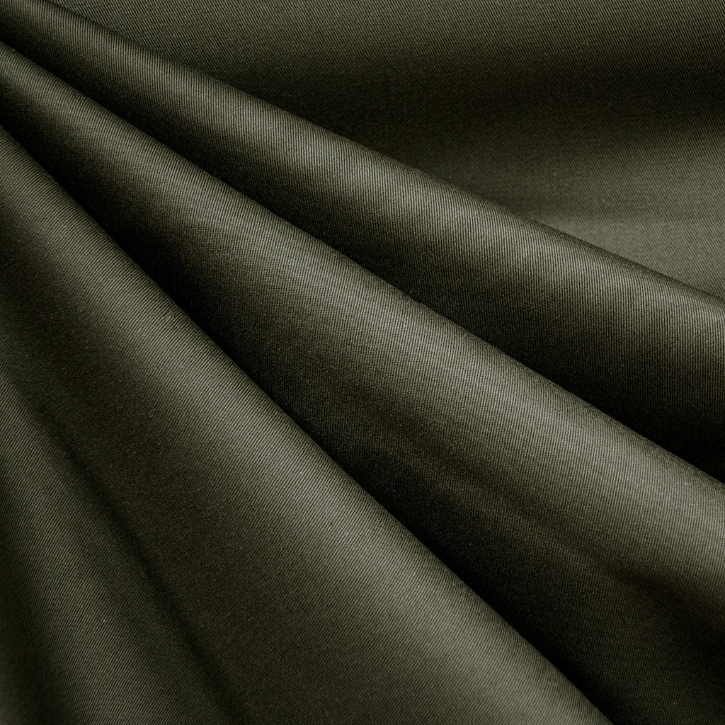 Classic Cotton Twill Solid Dark Olive - Fabric - Style Maker Fabrics