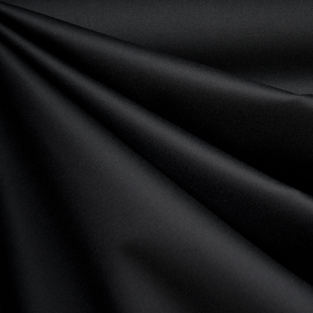 Classic Cotton Twill Solid Black - Fabric - Style Maker Fabrics