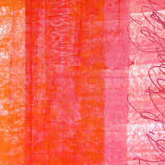 Japanese Nani Iro Ripple Single Border Linen Orange SY - Sold Out - Style Maker Fabrics