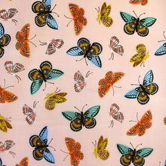 English Garden Monarch Cotton Lawn Peach SY - Selvage Yard - Style Maker Fabrics