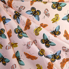 English Garden Monarch Cotton Lawn Peach SY - Sold Out - Style Maker Fabrics