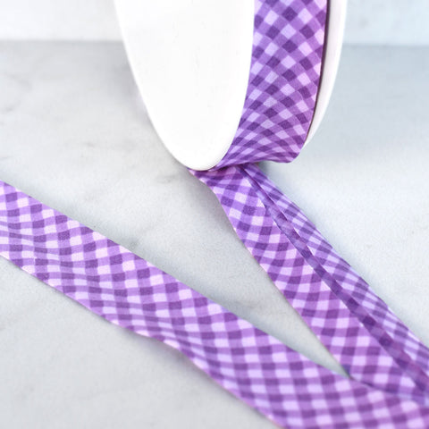 Tonal Gingham Cotton Lawn Bias Tape