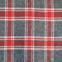 Mammoth Flannel Large Plaid Grey/Red - Fabric - Style Maker Fabrics