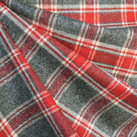 Mammoth Flannel Large Plaid Grey/Red