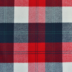 Mammoth Flannel Large Check Plaid Navy/Red SY - Sold Out - Style Maker Fabrics
