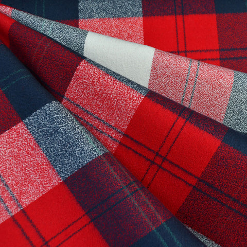 Mammoth Flannel Large Check Plaid Navy/Red SY
