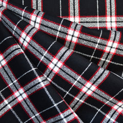 Mammoth Flannel Tartan Plaid Black/Red - Sold Out - Style Maker Fabrics