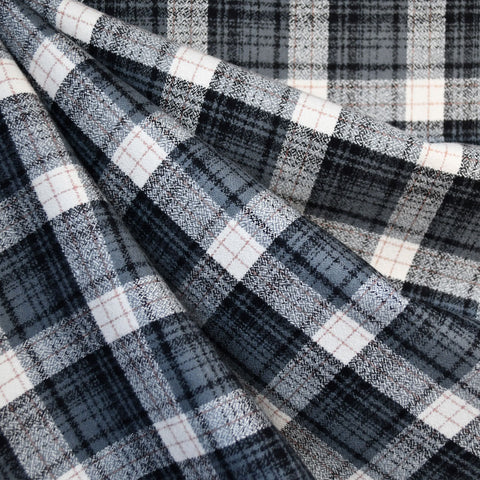 Mammoth Flannel Asymmetric Plaid Grey/Black