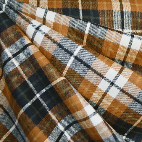 Heavy Duty Durango Flannel Plaid Chestnut/Black SY