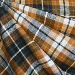 Heavy Duty Durango Flannel Plaid Chestnut/Black - Sold Out - Style Maker Fabrics