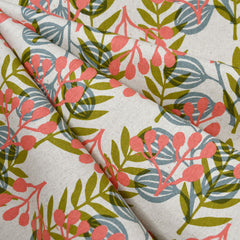 Imagined Landscapes Meadow Linen Blend Coral - Sold Out - Style Maker Fabrics