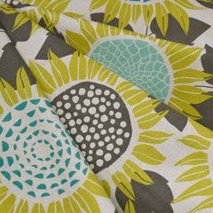 Front Yard Sunflower Linen Blend Citron - Fabric - Style Maker Fabrics