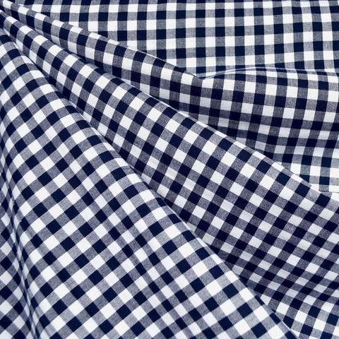 Mini Carolina Gingham Shirting Navy/White