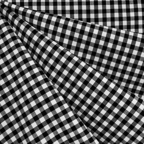 Mini Carolina Gingham Shirting Black/White