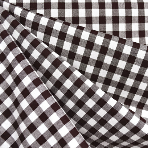 Classic Gingham Mini Check Shirting Espresso