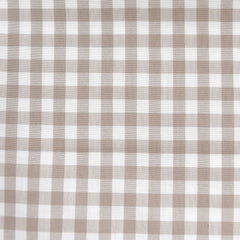 Classic Gingham Mini Check Shirting Sand - Fabric - Style Maker Fabrics