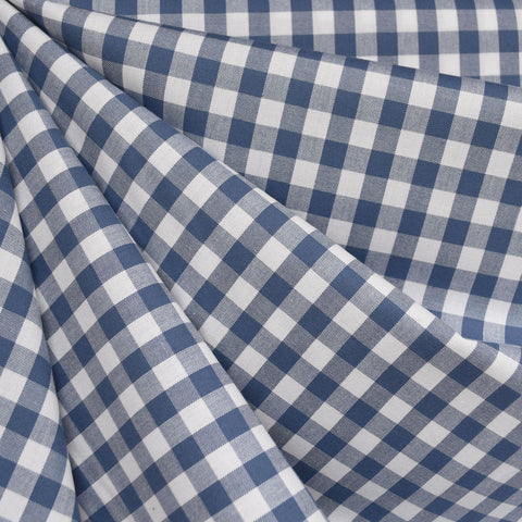 Classic Gingham Mini Check Shirting Denim