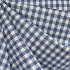 Classic Gingham Mini Check Shirting Denim SY - Sold Out - Style Maker Fabrics