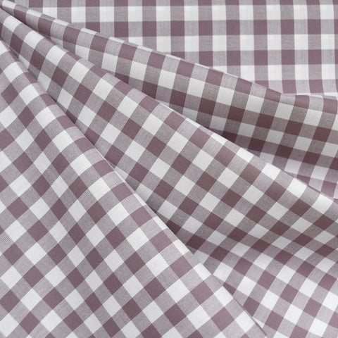 Classic Gingham Mini Check Shirting Mauve