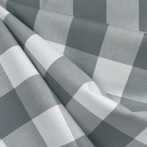 Classic Gingham Mega Check Shirting Shale