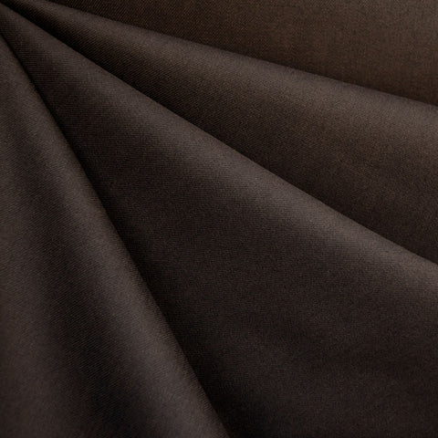 Stretch Cotton Sateen Solid Espresso