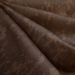 Distressed Yarn Dyed Plaid Twill Brown - Fabric - Style Maker Fabrics