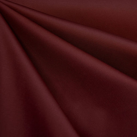 Stretch Cotton Sateen Solid Cranberry