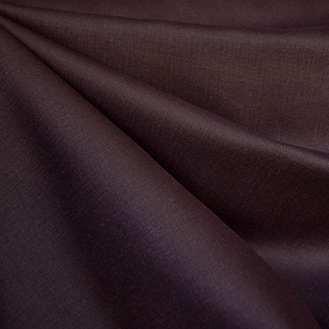 Brushed Cotton Twill Solid Raisin SY