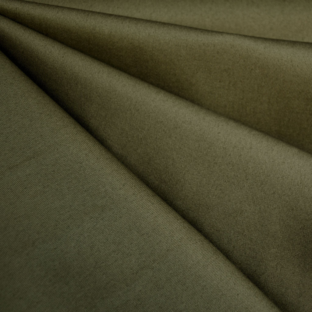 Designer Cotton Twill Solid Army SY - Selvage Yard - Style Maker Fabrics