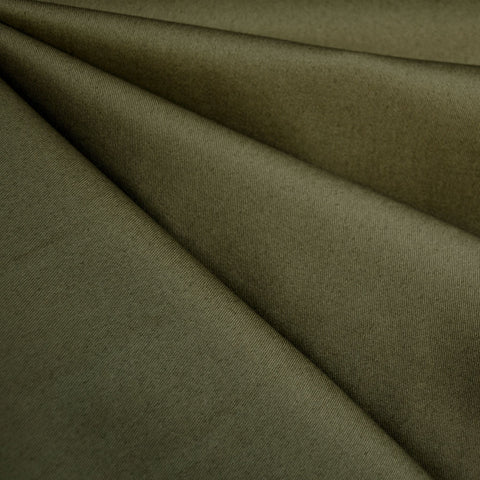 Designer Cotton Twill Solid Army
