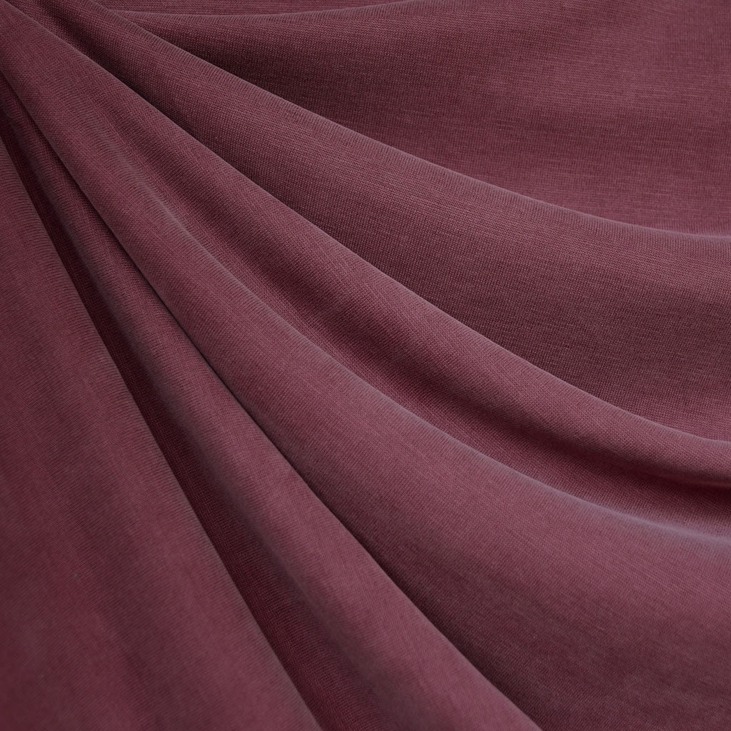 Designer Cupro Modal Jersey Knit Solid Berry - Fabric - Style Maker Fabrics