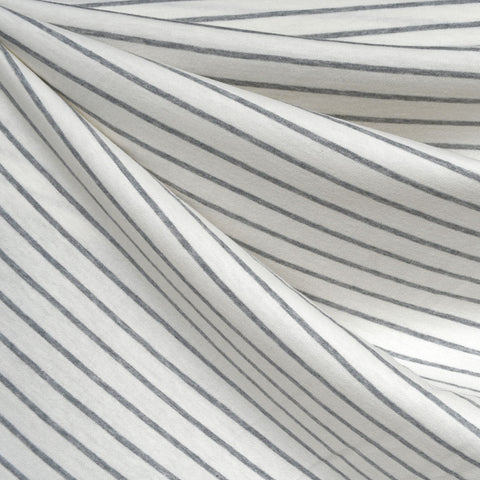 Pencil Stripe Cotton Jersey Cream/Grey
