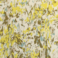 Abstract Brushstroke Jersey Knit Cream/Yellow SY - Sold Out - Style Maker Fabrics