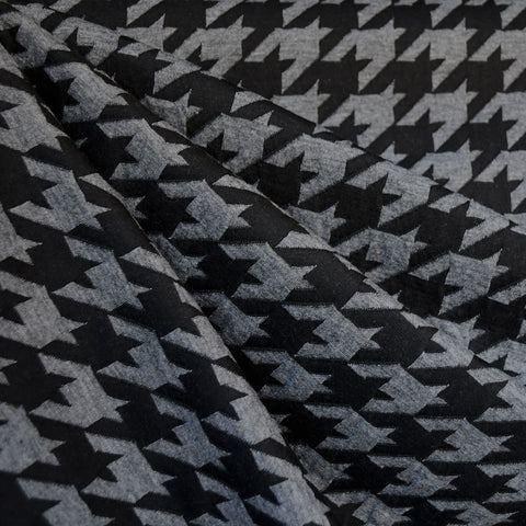 Houndstooth Double Knit Black/Grey