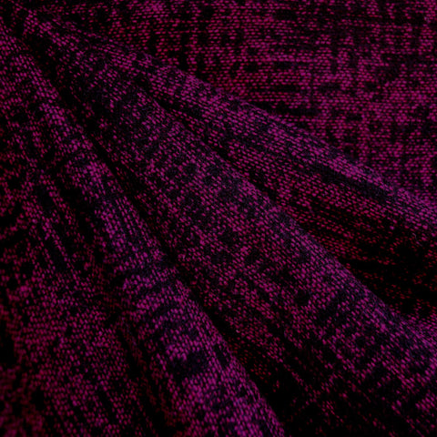 Textured Tweed Coating Magenta/Black SY