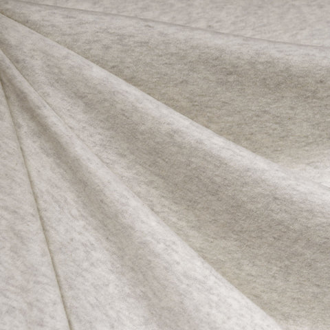 Cozy Brushed Jersey Knit Heather Cream