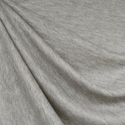 Plush Twill Weave French Terry Heather Grey