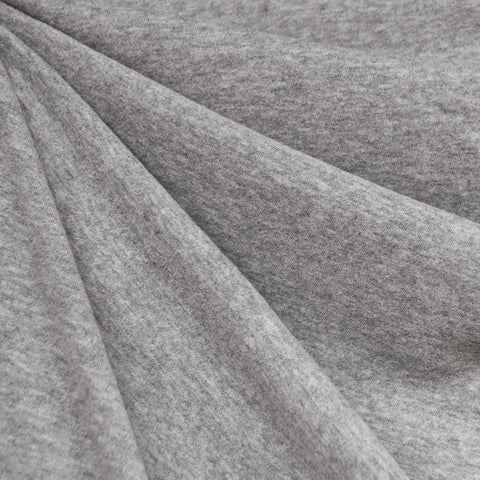 Cozy Brushed Jersey Knit Heather Grey