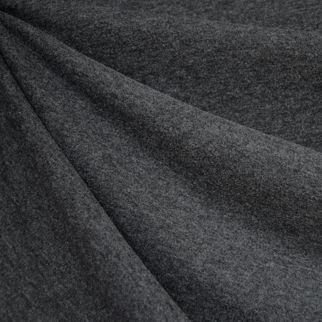 Cozy Brushed Jersey Knit Heather Charcoal - Fabric - Style Maker Fabrics