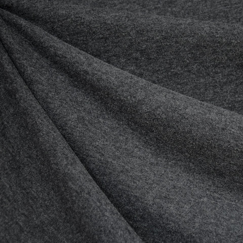 Cozy Brushed Jersey Knit Heather Charcoal