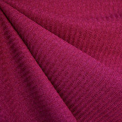 Plush Rib Sweater Knit Solid Magenta - Fabric - Style Maker Fabrics