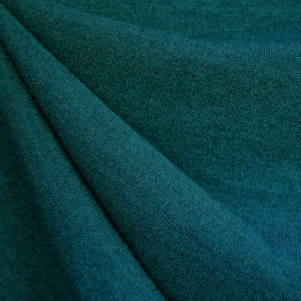 Plush Sweater Knit Solid Jade - Fabric - Style Maker Fabrics