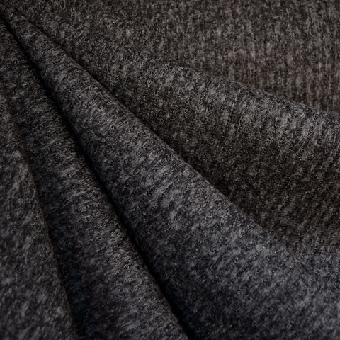 Brushed Rib Sweater Knit Charcoal